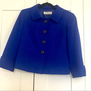 Tahari Blue Boxy Blazer